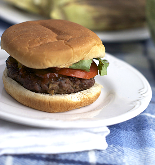 Good Old-Fashioned Hamburgers ~ Heat Oven to 350