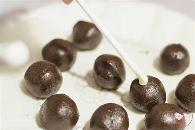 bolitas con chocolate cake pops oreo nutella