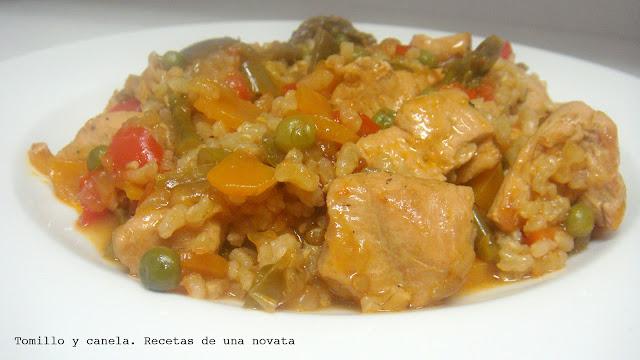 Arroz Integral Con Verduras Y Pechuga De Pavo