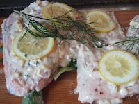 Yogurt-marinated salmon