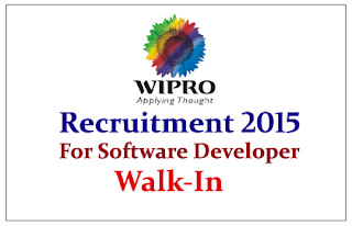Wipro Technologies Walk In Drive for the Java Sr. Developer / Tech- Lead