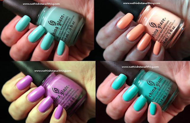 China Glaze Neon On The Shore Collection - Swatches