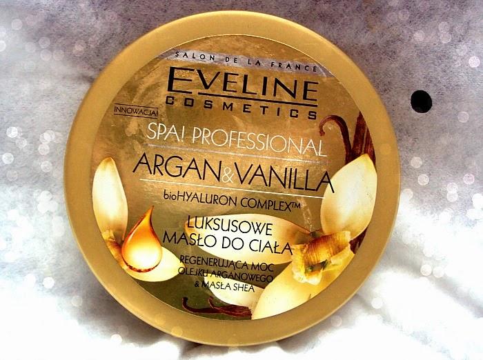 Eveline, SPA Professional Argan & Vanilia, odżywcze masło do ciała, regenerujące