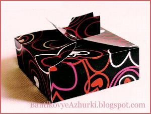 четырехугольная плоская коробочка для подарка
