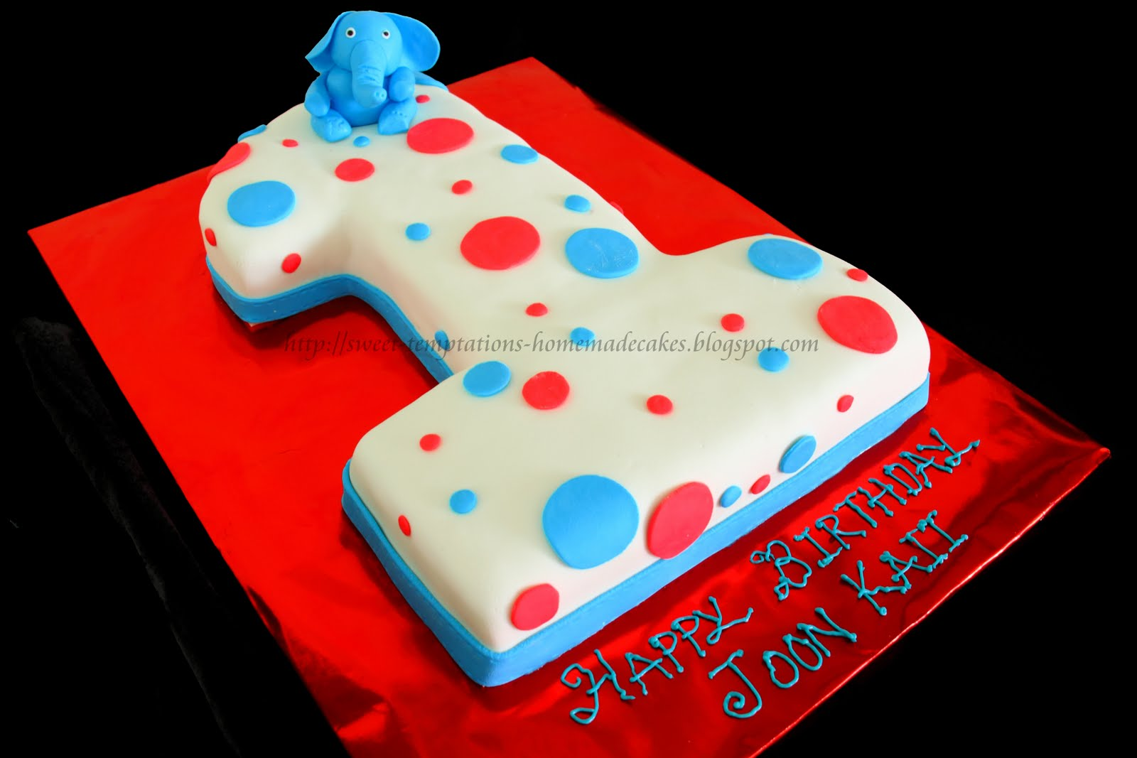 No1 Cake For A 1 Year Old Boy Who Loves Blue Elephant