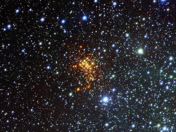 Imagem: Super cluster de estrelas Westerlund 1
