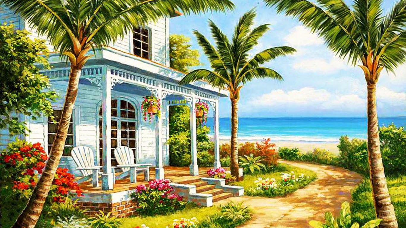 Beach Cottages On Pinterest Beach Houses Thomas Kinkade