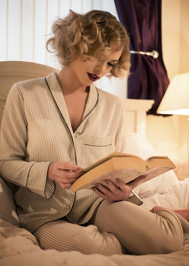 Lounging Seidenpyjama von Shell Belle Couture
