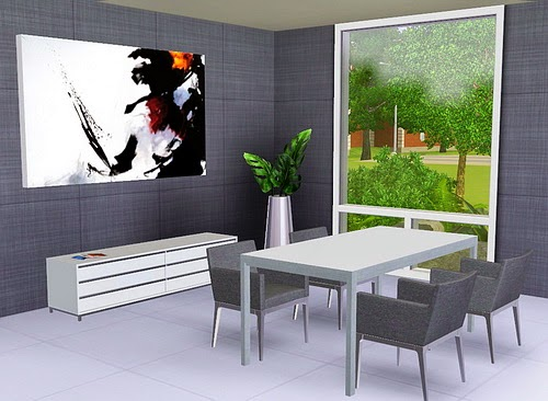 Emma 39 S Simposium 5 Modern Room Sets By Stylist Sims 110 For Sims 3 Dining