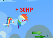 juego Rainbow Dash Cloud Doging Fun