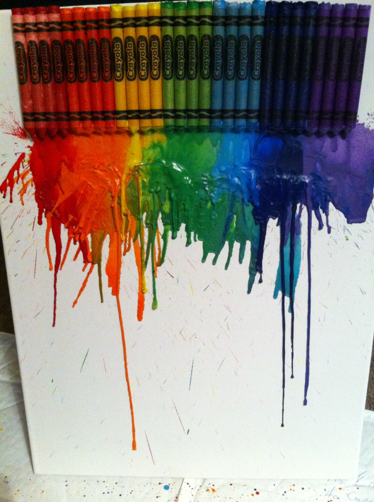 Crayola Crayon Melted On Canvas Super Quick Art