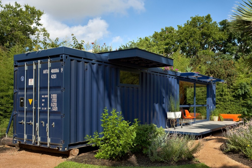 Shipping container homes poteet architects container guest house - Homes made from shipping containers ...