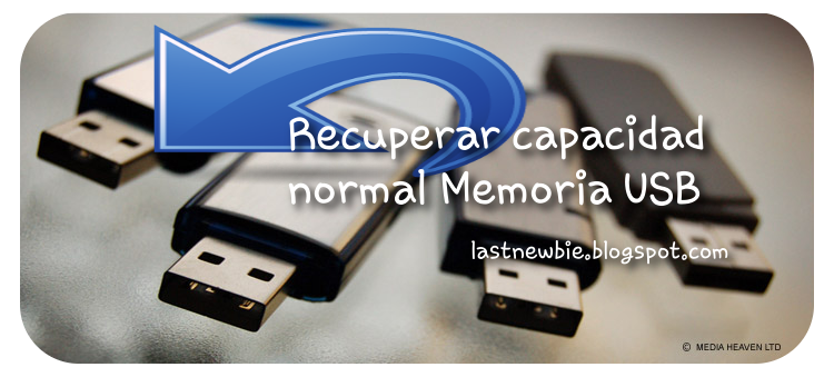 Recuperar capacidad normal USB