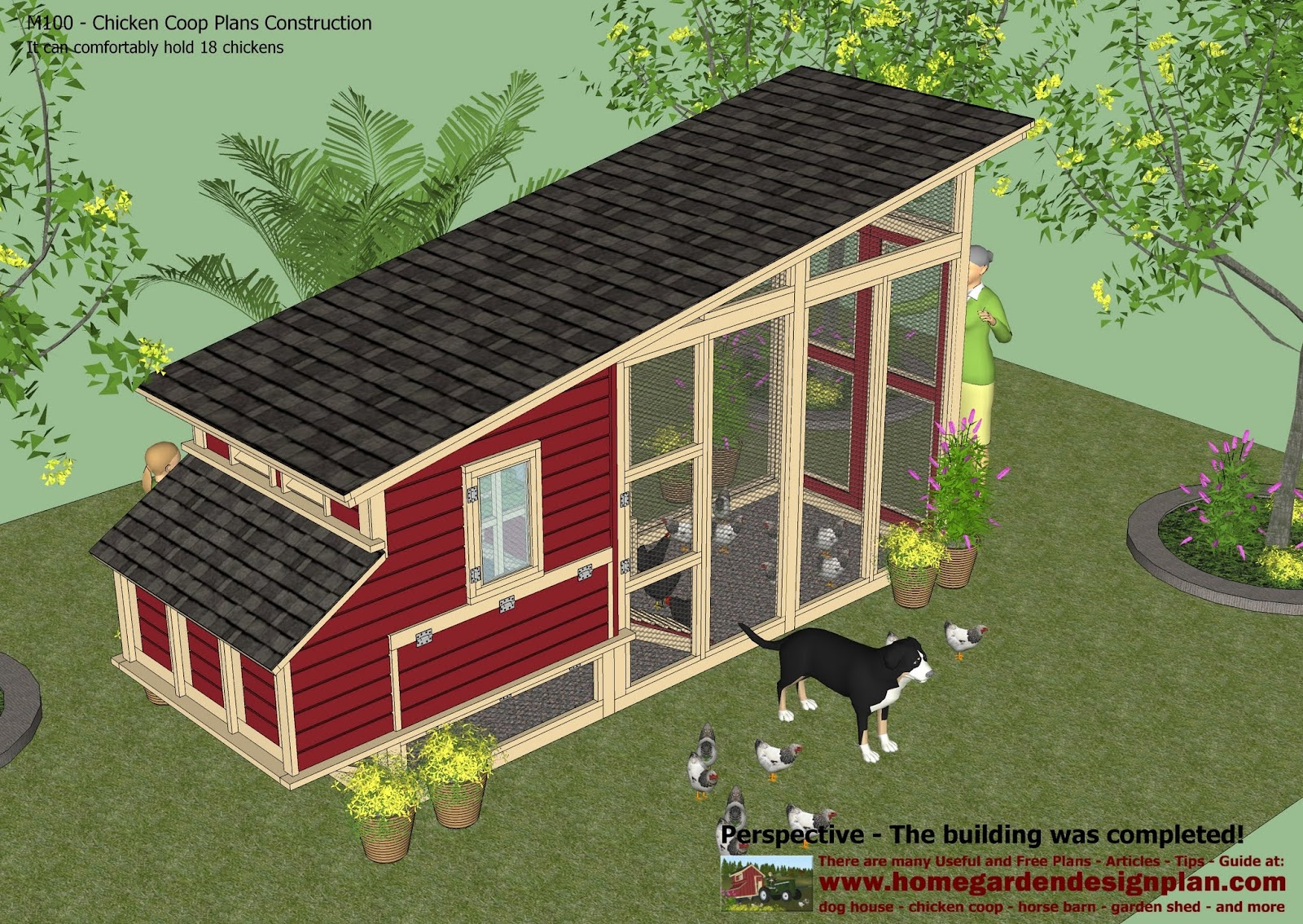 Home Garden Plans M100 Chicken Coop Plans Construction
