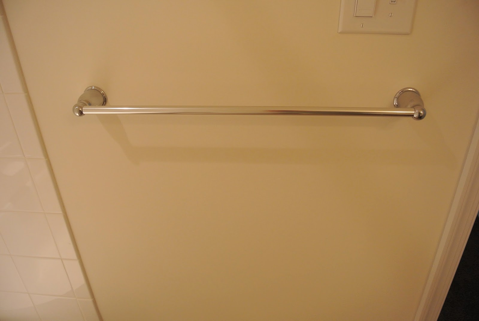 A picture of one of the towel racks