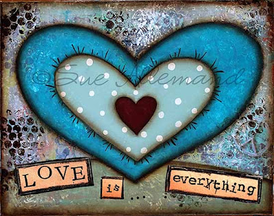 Mixed Media Art Print, original art, copyright Sue Allemand, inspirational gifts