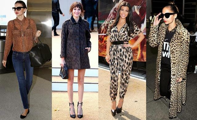leopard print celebrities mirander kerr alexa chung kourtney kardashian nicole richie