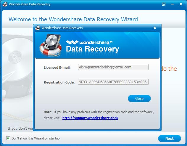 wondershare data recovery registration code free mac
