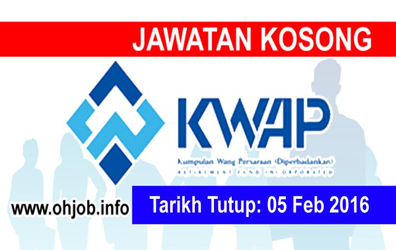 Jawatan Kerja Kosong Kumpulan Wang Persaraan (KWAP) logo www.ohjob.info februari 2016