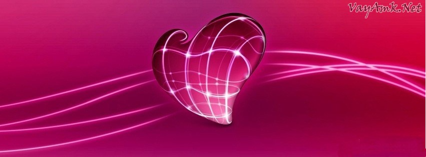 Pink Heart Facebook Cover