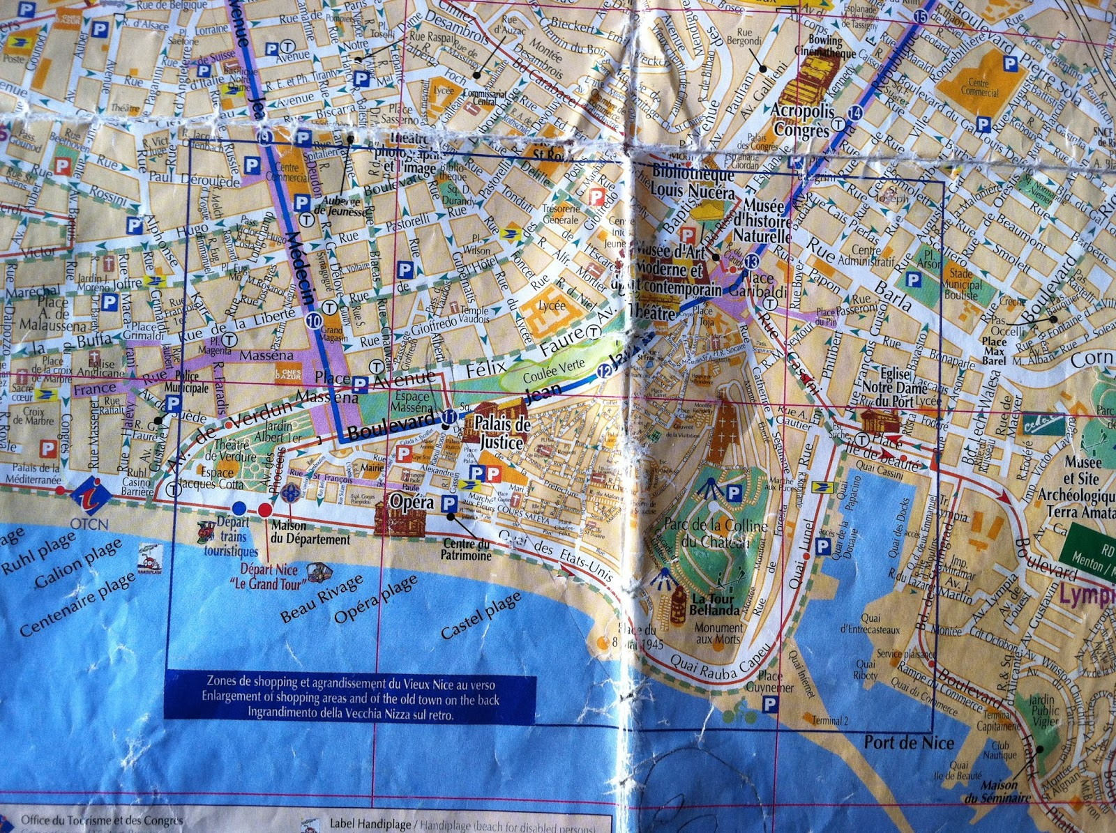 The Gallivanting Grasshopper Finding My Bearings Nice France – Tourist Map Of Nice France