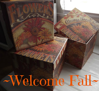 Welcome Fall boxes