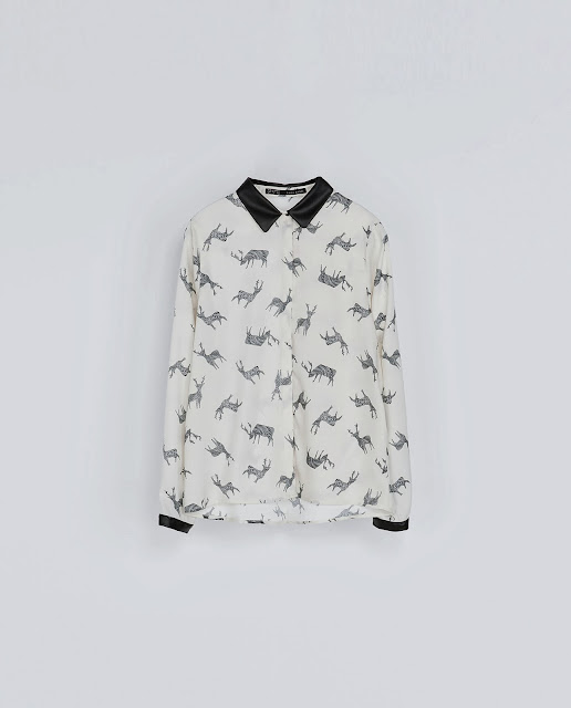 stag print blouse