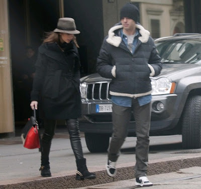 Kaka and Carolina Celico in Milan