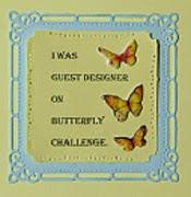 Butterfly Challenge - guest designer