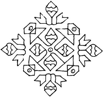 Simple Desing Kolam