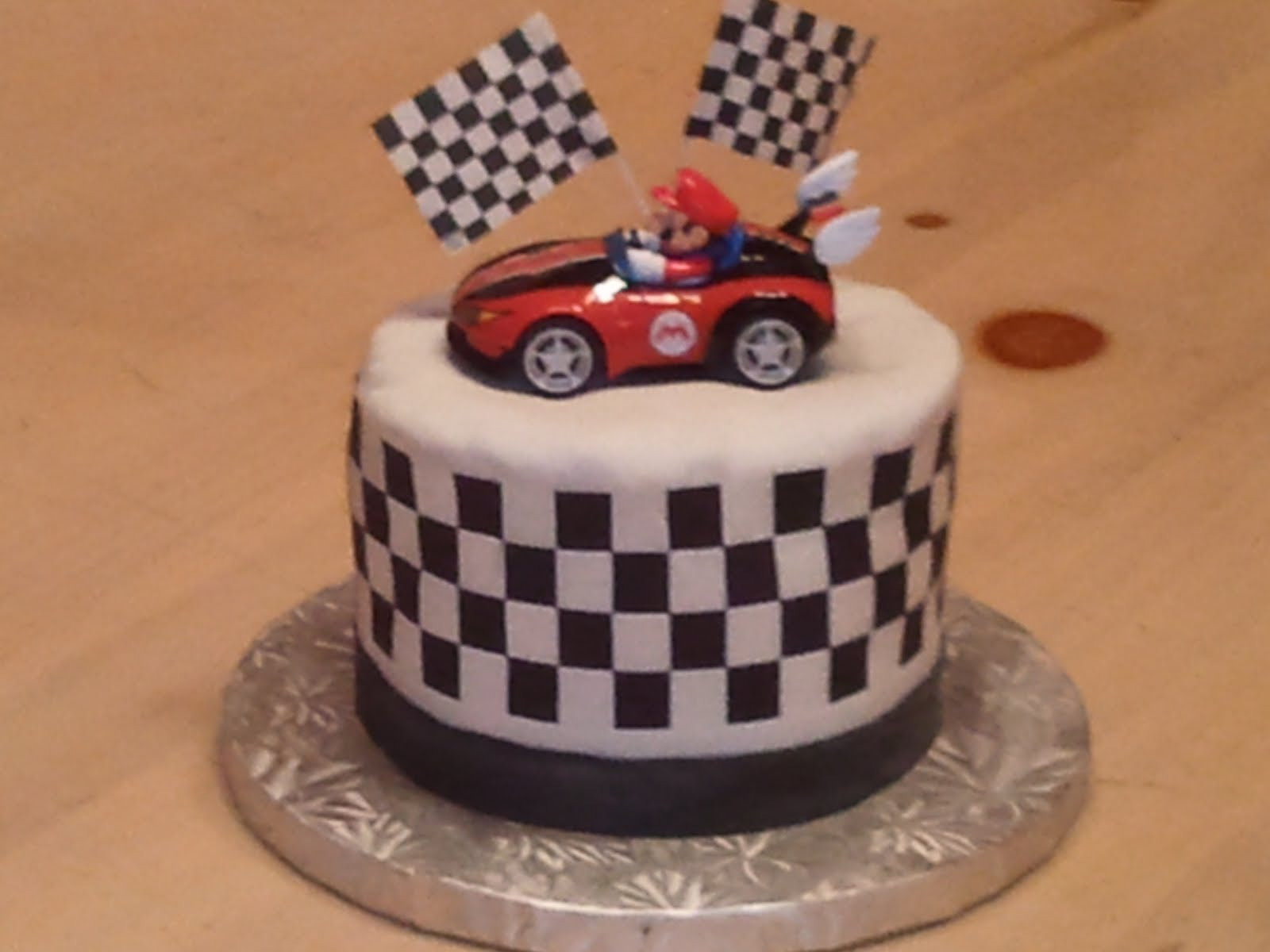 Wii Mario Kart cake, Decorate-Your-Own cake, baby shower cookies and