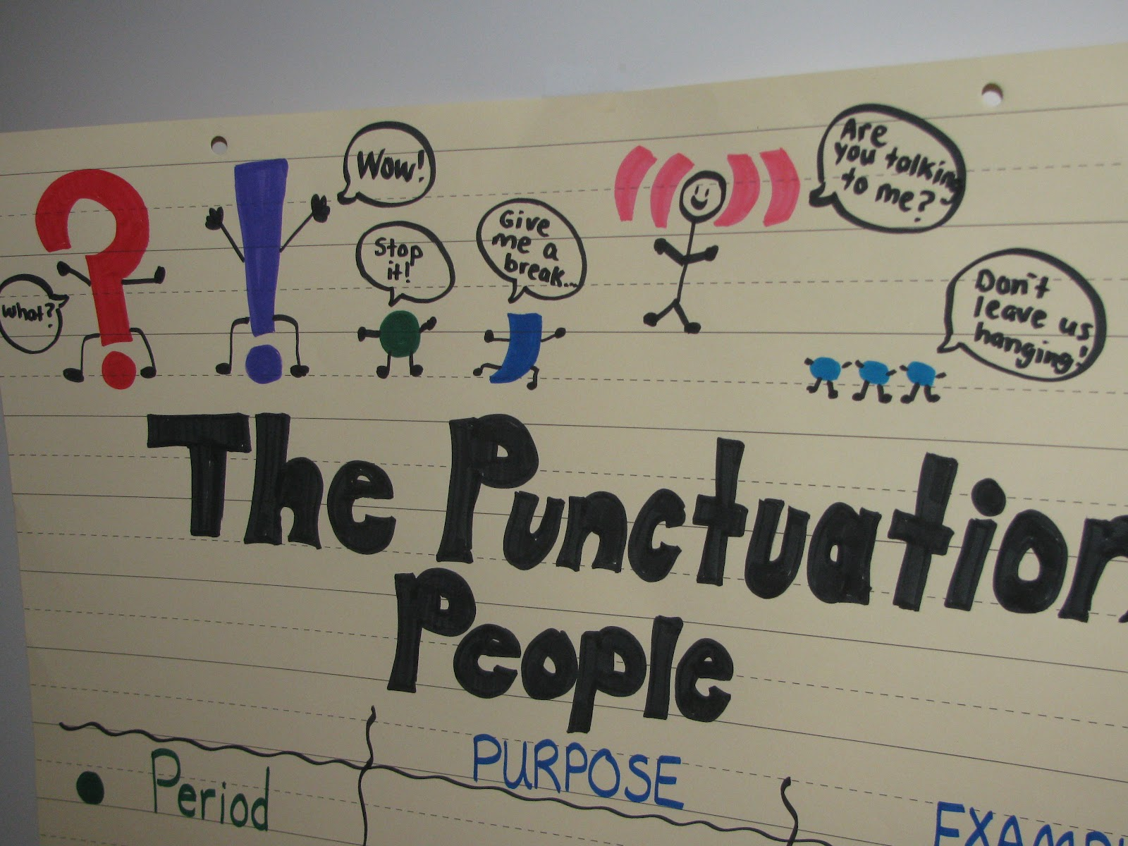 Simply SWEET TEAching: Punctuation People! - photo#26