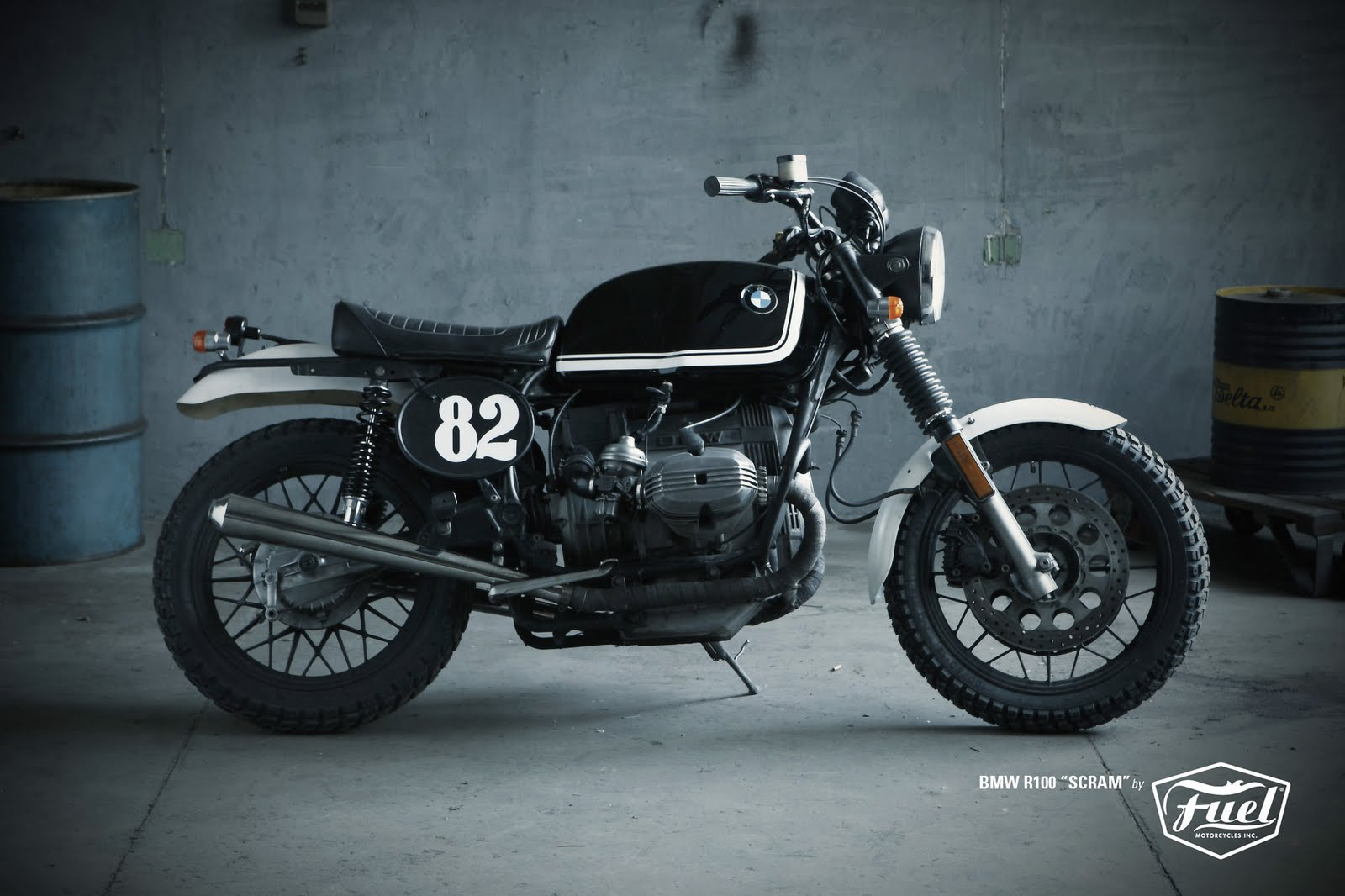 cafe racer special bmw r100 scram by fuel. Black Bedroom Furniture Sets. Home Design Ideas
