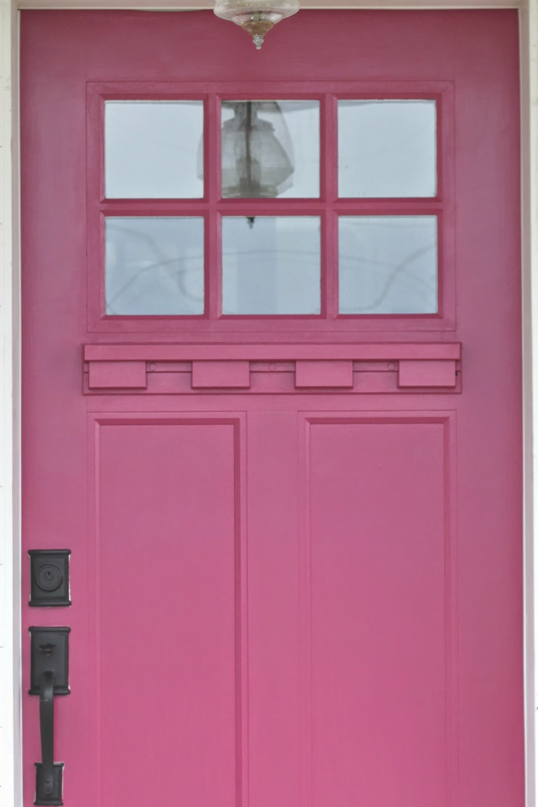 Maple Leaves & Sycamore Trees: The Day I Painted Our Door Pink