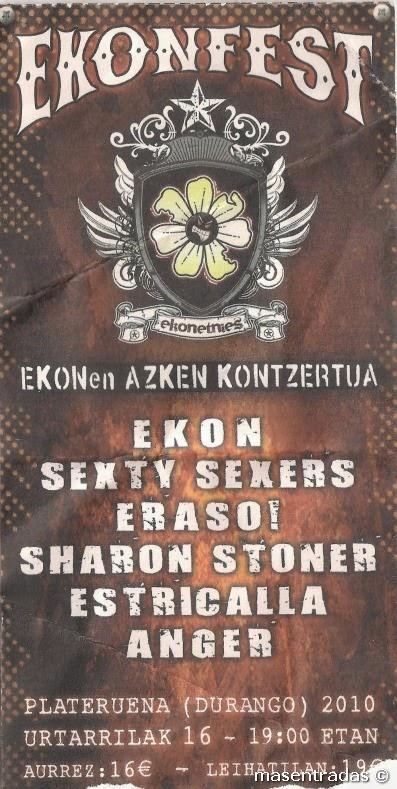 entrada de concierto de ekonfest