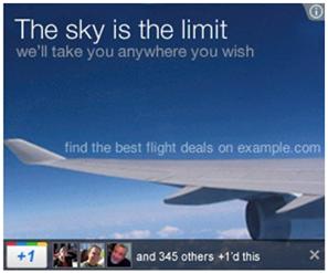 +1 ディスプレイ広告表示例