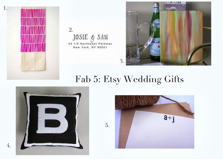 Project Soiree Fab 5 Etsy Wedding Gifts