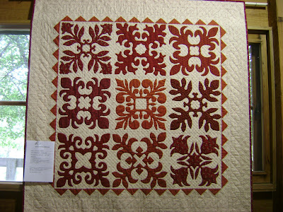 red white quilt; paper cut quilt