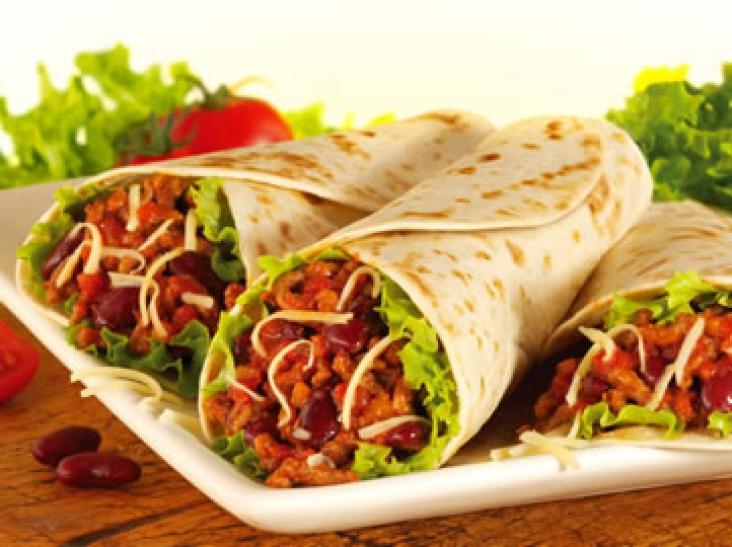 Буритос по мексикански с фаршем рецепт