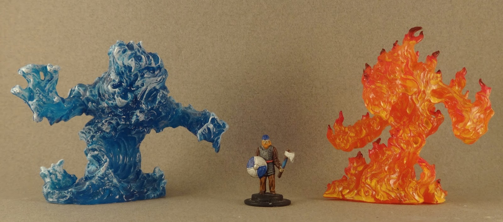Blue Fire Miniature Painting