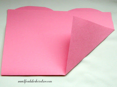 how to fold a Valentine's paper heart tutorial