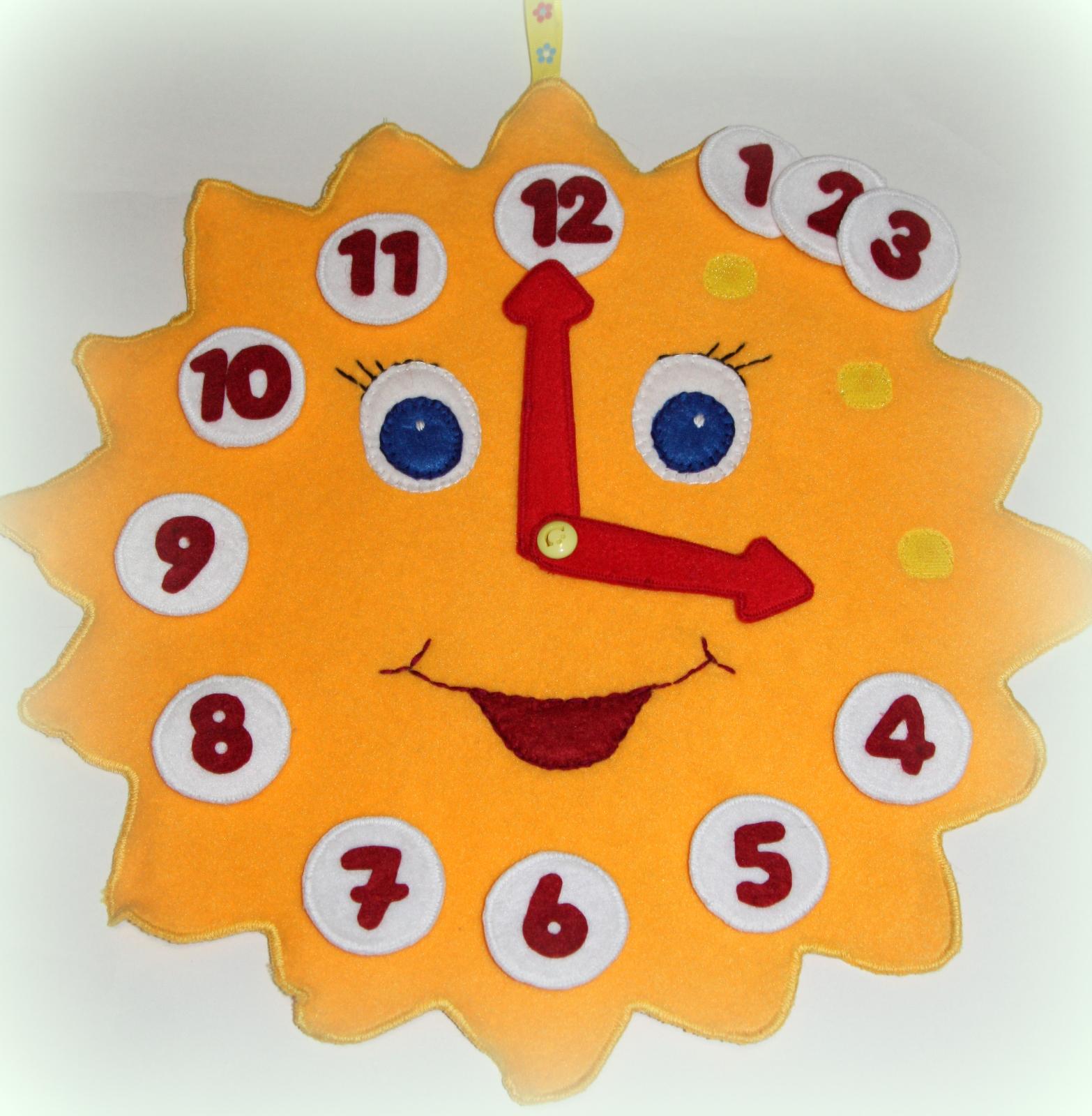 Часы поделка с детьми