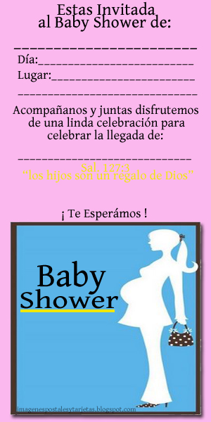   Postales Y Tarjetas Tarjeta De Invitacin Para Baby Shower De Nia