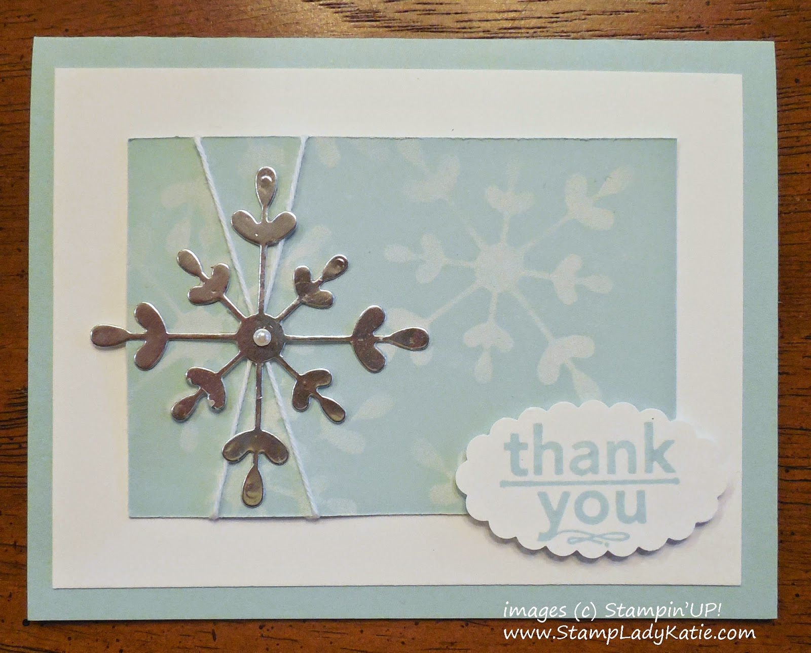 Winter Card made with the Snowflake from Stampin'UP!'s Snowflake Flip Card Thinlet