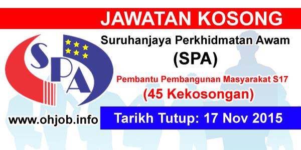 Jawatan Kerja Kosong Suruhanjaya Perkhidmatan Awam Malaysia (SPA) logo www.ohjob.info november 2015
