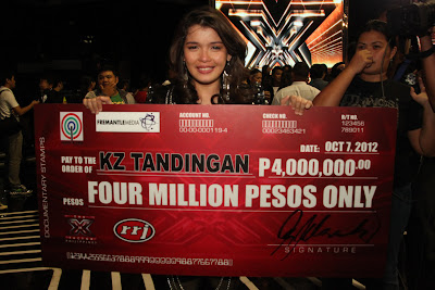 The X factor Philippines Grand Winner - KZ Tandingan