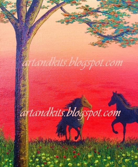 Primeiras imagens de mais uma das minhas pinturas... / The first images of another one of my paintings...