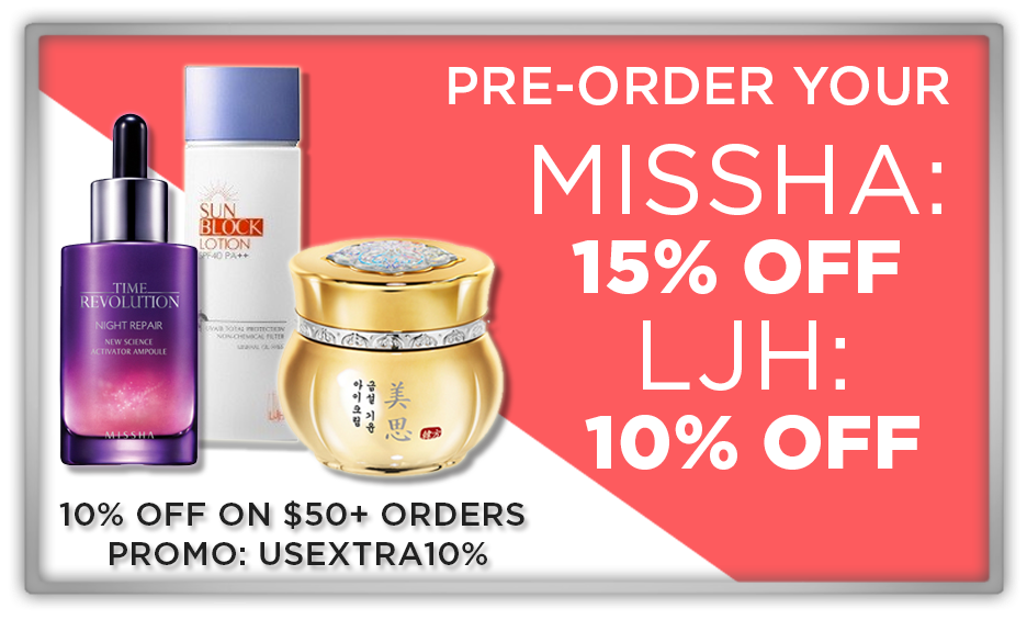 memebox 미미박스 Commercial sale makeup discount 15% off LJH misscha couponcode codes preorder