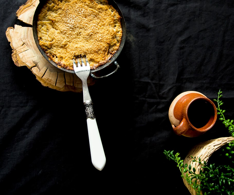receta fácil de pastel de patata y calabaza