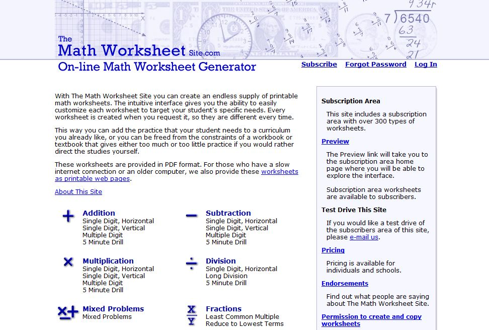 math worksheet : the maths worksheet site  educational math activities : Math Worksheet Site